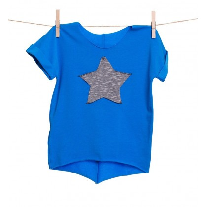 Shortie blue/star