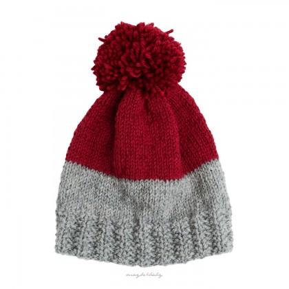 Winter Cap grey/claret