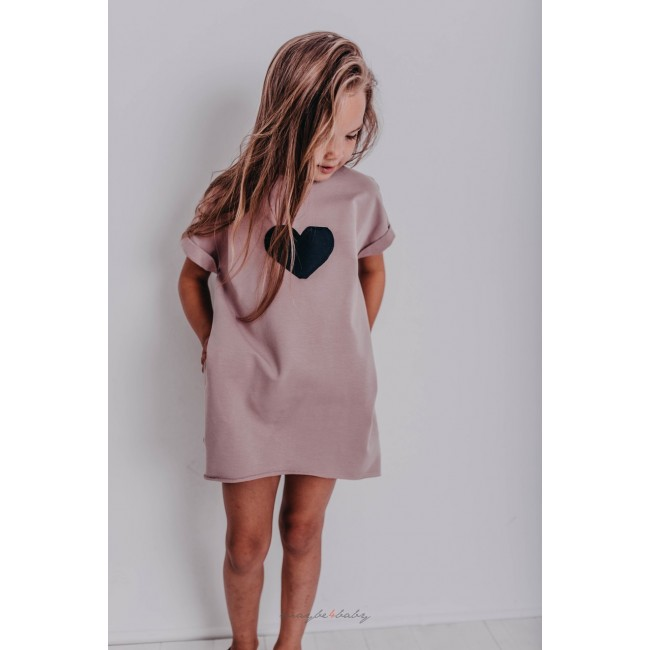 tunika surowo wykończona dla dziewczynek