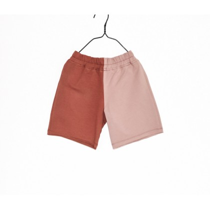 Short Baggy double colours light pink / brown