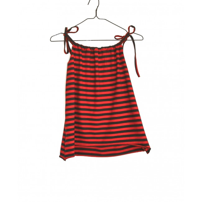 Tie Dress red / blue stripes