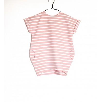 Over Dress pink / white stripes
