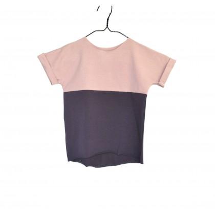 Shortie double colours light pink / plum
