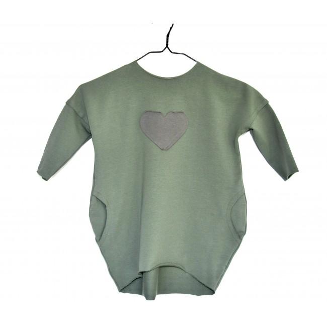 Over Dress long sleeve green