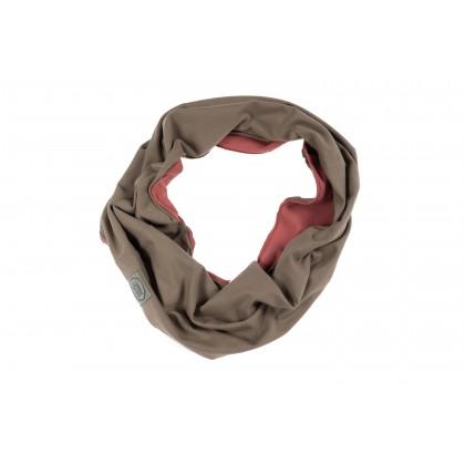 Tube-scarf pink / brown 26.1