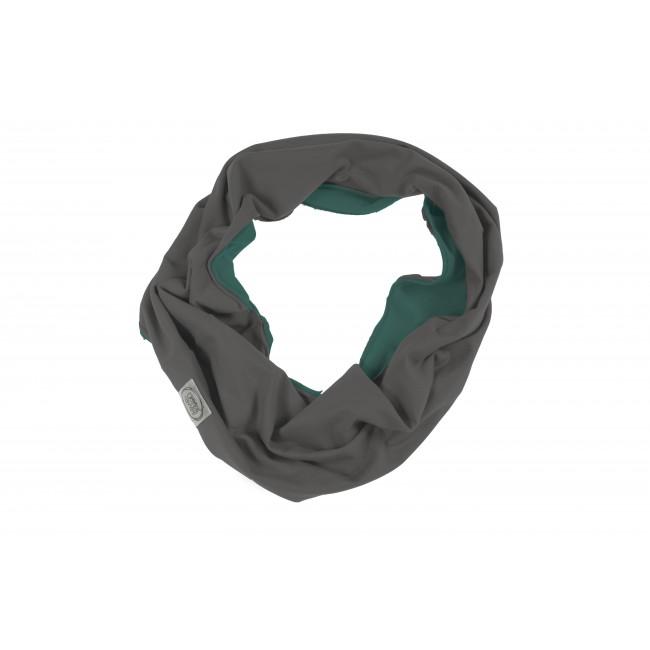 Tube-scarf green / grey 26.3
