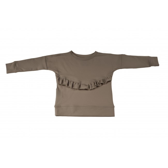 Frill Blouse brown 6.3
