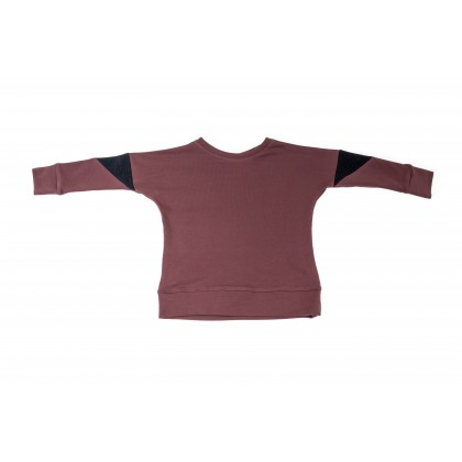 Triangle Blouse violet 4.3