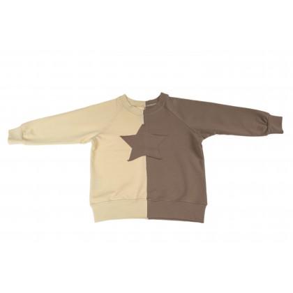 Double Blouse ecru / brown 5.4
