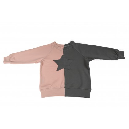 Double Blouse grey / light pink 5.2