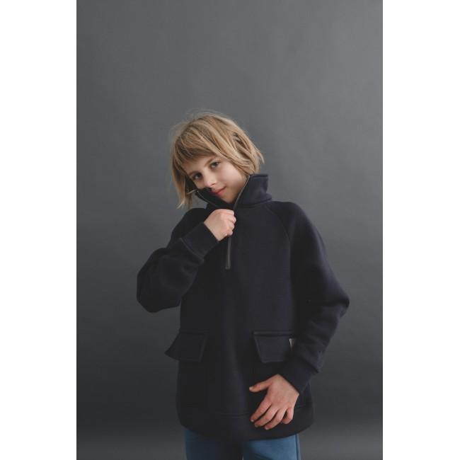 Zipper Blouse dark blue 12.1