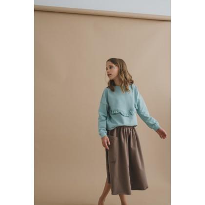Loose Skirt brown 18.4