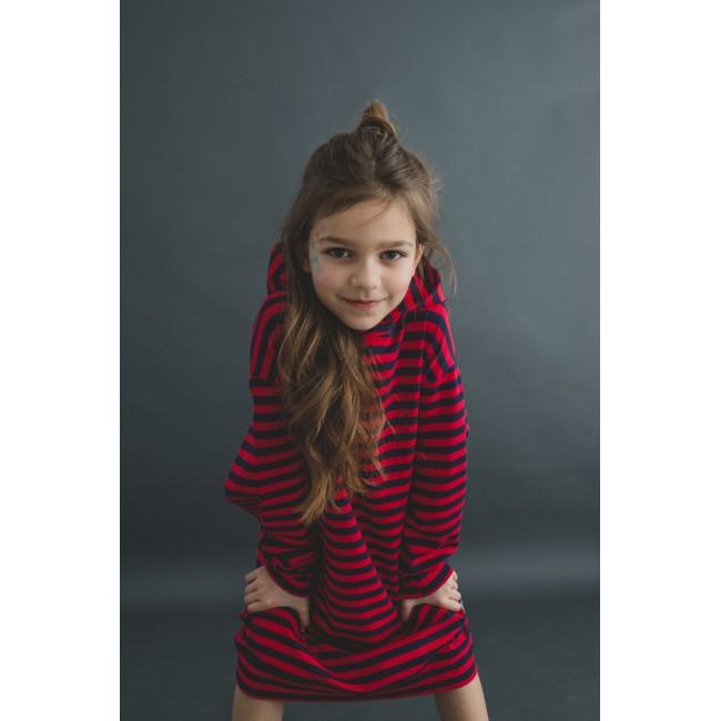 Long Hoodie red stripes 8.3