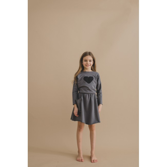 Pocket Dress grey 17.3