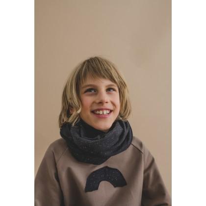 Tube-scarf black 26.2